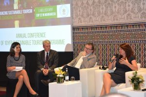 The ICRT contributed to the Sustainable Tourism in a Changing Climate Conference, a side event to the COP22 Marrakech conference. Cecilia Lopez y Royo (UN coordinator), Christopher Warren (ICRT), Javier Rodriguez Losada (Tesouros de Galicia) and Salli Felton (The Travel Foundation)
